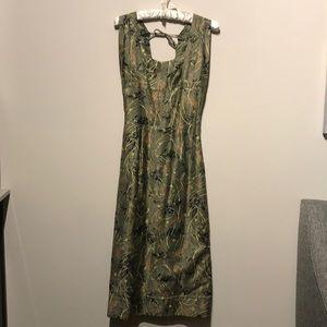Dresses & Skirts - Vintage 1980s Dress Unique abstract Floral print